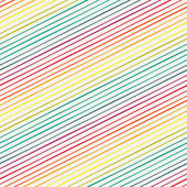 Seamless pattern with rainbow diagonal stripes — Stock Vector