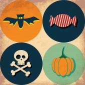 Set of halloween icons. — Stock Vector