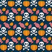 Vtipné halloween vzor — Stock vektor