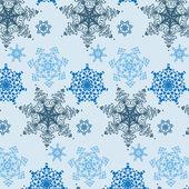 Okrasná kola krajka sbírka sníh nový rok vločky — Stock vektor