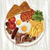 English Breakfast — Stock Vector