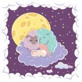 спящий ребенок — Cтоковый вектор