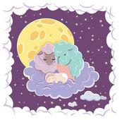 Sleeping Child — Stock Vector