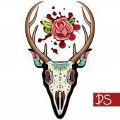 Deer Skull — Stock Vector