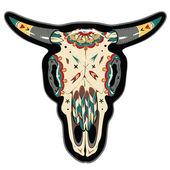 Buffalo Skull — Stock Vector