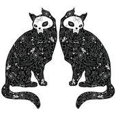 Black cats — Stock Vector