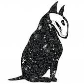 Black dog — Stock Vector