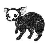 Black chihuahua — Stock Vector