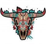 Buffalo Skull — Stock Vector #61094563