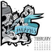 Aquarius tattoo — Stock Vector