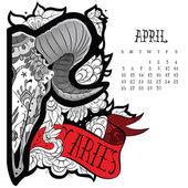 Aries tattoo — Vetorial Stock