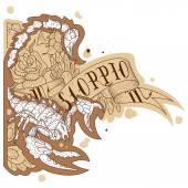 Engraving scorpion — Stock Vector