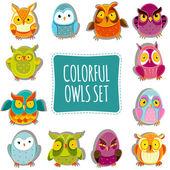 Vector Owls — Stock Vector