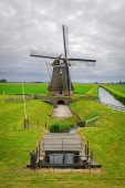 "Mill ""Goliath"", located in the province of Groningen, The Netherlands — Stock fotografie"