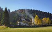 Cemetery behind the monastery Sucevita, Romania — Stock Photo