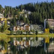View of the Arosa city from Obersee, Switzerland — Stock Photo #56710491