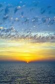 Sunset over the IJsselmeer in the fall, the Netherlands — Stock Photo
