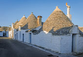 The street of Alberobello's trulli, Italy — Stock Photo