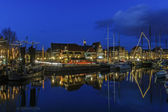Street of the historical town of Hoorn in the evening light, the Netherlands — ストック写真