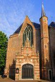 East side of the Westerkerk linking the eastern entrance portal, Enkhuizen, The Netherlands — Стоковое фото