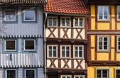 Colorful fachwerk houses in the town of Wernigerode, Germany — Stock Photo