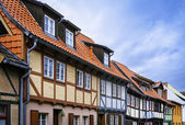 Fachwerk houses in Quedlinburg - town of UNESCO world heritage list, Germany — Stock Photo