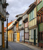 Colorful houses on the street of Wernigerode, Germany — Zdjęcie stockowe