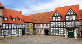 Fachwerk houses in the old town center of Quedlinburg, Germany — Stock Photo