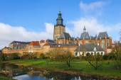 View of the Dutch town of Zutphen from the city wall, the Netherlands — Stockfoto
