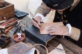 Leather craftsman — Stock Photo