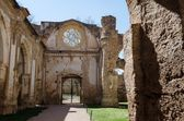 Courtyard of the famous Monasterio de Piedra — Stock Photo