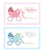 Baby shower greeting card. — Stock Vector