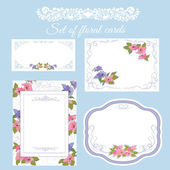Floral card for any occasion.Set of wedding invitation. — Stockvector