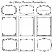 Set of vintage borders and frames — Stock Vector