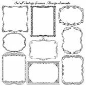Set of Vintage borders and frames. — Stock Vector