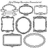 Conjunto de elementos decorativos Vintage y fronteras. — Vector de stock