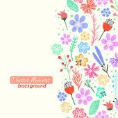 Renkli vektör çiçek arka plan — Stok Vektör