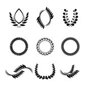 Collection of vector laurel wreaths for award — Vector de stock