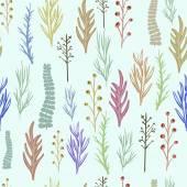 Květinové vektor vzorek, textura s květinami. — Stock vektor