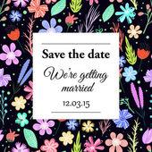 ベクトル結婚式の招待カード. — ストックベクタ