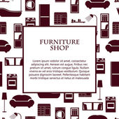Home interior furniture vector background. — Stock Vector