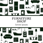 Home interior furniture vector background. — 图库矢量图片