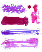 Colorful vector watercolor brush strokes — Vettoriale Stock