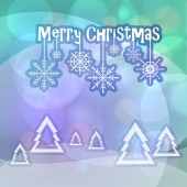 Merry Christmas greetings on bokeh background — Stockvektor