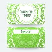 Set of business card and invitation card templates — Stock Vector