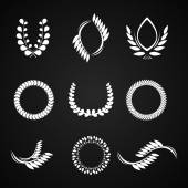 Collection of vector laurel wreaths for award — Stock Vector