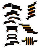 Set of 13 vector ribbons — Stock Vector