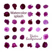 Vector Colorful watercolor splashes — Stock Vector