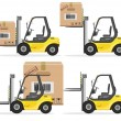 Loader with Box. Shipment Icons Set. Vector — Stock Vector #54757545