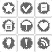 Simple Monochrome Icon, Vector — Stock Vector